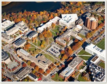 Aerial view of the Ag Quad at Cornell